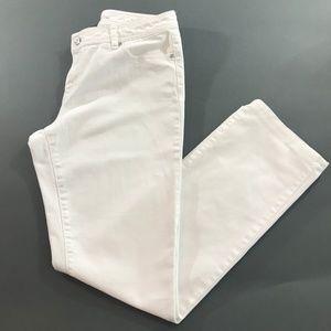 Michael Kors Womens White Straight Jeans, Size 10